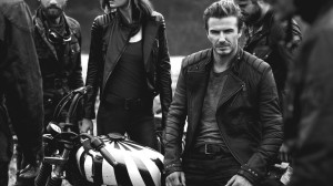 David Beckham at Belstaff